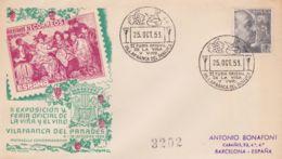 1953 SPAGNA 2  Fiera Vite E Vino/Villafranca (25.10) Annullo Speciale - Vini E Alcolici