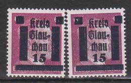 SBZ Kreis Glauchau Unter Amerikanischer Besetzung 15 Auf 6 Pfg. Postfrisch Glauchau 5b(2) - Zona Anglo-Américan
