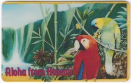 HAWAII A-013 Prepaid FoodPantry - Animal, Bird, Parrot - Used - Hawaii