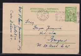 Yugoslavia 1958 Postal Stationery Subotica-Beograd - Ganzsachen