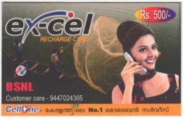 INDIA A-020 Prepaid BSNL - People, Woman - Used - India