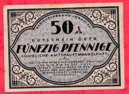 Allemagne 1 Notgeld De 50 Pfenning Stadt Löbau Dans L' état  ( RARE)  N °3413 - Colecciones