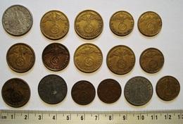 ALLEMAGNE. LOT 16 PIECES 1937 - 1940 THIRD REICH. GERMANY. WWII. - [ 4] 1933-1945 : Third Reich