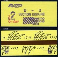 """Ticket De Métro Paris - Edition Spéciale """"Bicentenaire De La Révolution"""" - Métro"""