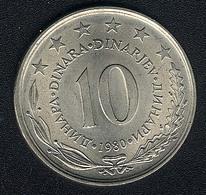 Jugoslawien, 10 Dinara 1980, UNC - Jugoslawien