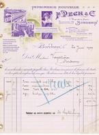 GIRONDE - BORDEAUX - F. PECH & Cie - Gravure, Lithographie, Typographie, Affiches, Journaux, Etc...Rue De La Merci - Imprimerie & Papeterie