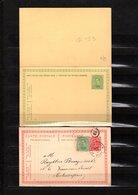 Lot De 2 Cartes Postales - Stamped Stationery
