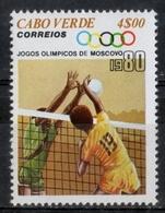 Capo Verde Cape Verde 1980 - Giochi Olimpici Mosca Olympic Games Moscow Pallavolo Volleyball MNH ** - Pallavolo