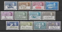 BRITISH ANTARCTIC TERRITORY - YVERT N° 1/12 * MLH (CHARNIERE TRES LEGERE) - COTE = 70 EUR. - Territoire Antarctique Britannique  (BAT)