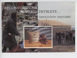 Reconstruisons L'Arménie Détruite (séisme Du 7 Décembre 1988) Association équilibre-amitié C.E.E (2 Scan) - Arménie