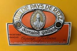 10263 - Vin De Pays De Retz Domaine Gallais Cépage Grolleau - Blancs