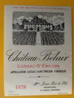 10281 - Château BelAir 1978  Lussac-St-Emilion - Bordeaux