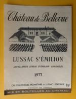 10288 - Château De Bellevue 1977  Lussac-St-Emilion - Bordeaux