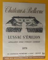 10289 - Château De Bellevue 1979  Lussac-St-Emilion - Bordeaux