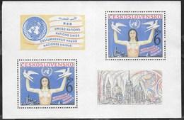 CECOSLOVACCHIA - SESSIONE NAZIONI UNITE SUL DISARMO - 1982 - FOGLIETTO NUOVO S.G. (YVERT BF53 - MICHEL BL48) - Blocchi & Foglietti