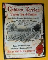10293 - Château Terrien 1982  Lussac-St-Emilion - Bordeaux