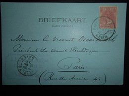 Pays-bas Carte De Rijswijk 1900 Pour Paris - Periode 1891-1948 (Wilhelmina)