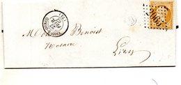 G.C.2065 Sur N°21,LIZY Sur OURCQ,L.A.C. De VENDREST (lettre B),le 27/2/67. - Postmark Collection (Covers)