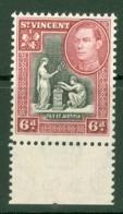 St Vincent: 1938/47   KGVI    SG155     6d      MNH - St.Vincent (...-1979)