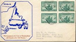 44419 Canada, Circuled Cover 1949 Union Of Newfoundland With Canada - 1937-1952 Reinado De George VI