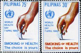 Ref. 313258 * NEW *  - PHILIPPINES . 1980. DIA MUNDIAL CONTRA EL TABACO - Philippinen