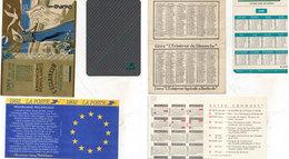 3 Calendriers : 1936 (L' Eclaireur) 1989 (Credit Agricole) 1992 (La Poste)   (112700) - Calendriers