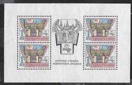 CECOSLOVACCHIA - PRAGA '88 - ESPOSIZIONE FILATELICA - FOGLIETTO NUOVO S.G. (YVERT 2767 - MICHEL 2957A) - Esposizioni Filateliche