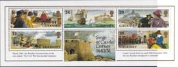 Guernsey - 350. Jahrestag Des Begins Der Belagerung Von Schlosz Cornet - MNH - M Blok10 - Guernsey