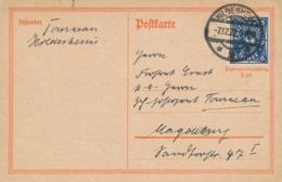 Deutsches Reich - 1922 - 6M On Postkarte From Hildesheim To Magdeburg - Germania