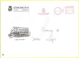 ITALIA - ITALY - ITALIE - 2002 - 00,77 EMA, Red Cancel - Comune Di Alfonsine - Viaggiata Da Alfonsine Per Lugo - Affrancature Meccaniche Rosse (EMA)