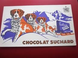 CHOCOLATS SUCHARD MILKA BUVARD Collection Illustré SAINT BERNARD Publicitaire Publicité Alimentaire Chocolat - Cocoa & Chocolat