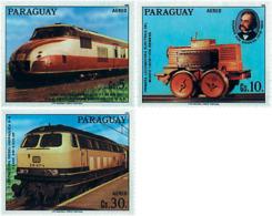 Ref. 56926 * NEW *  - PARAGUAY . 1986. 150th ANNIVERSARY OF THE GERMAN RAILWAYS. 150 ANIVERSARIO DE LOS FERROCARRILES AL - Paraguay