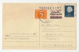 Nederland, Postal Stationery Briefkaart Travelled 1966 Leeuwarden Station Pmk B190401 - Entiers Postaux