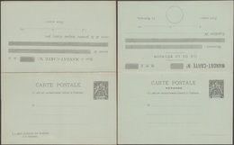 Réunion 1892 Carte Postale, Entier Postal Officiel Avec Réponse Payée. 10 C Mouchon, Mandat-carte. Superbe - Réunion (1852-1975)