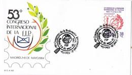 32259. Carta MADRID 1984. Congreso  Internacional F.I.P., Federacion Internacional Filatelia - 1931-Hoy: 2ª República - ... Juan Carlos I