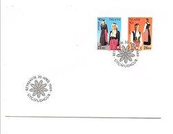 ISLANDE FDC 1989 COSTUMES TRADITIONNELS - 1944-... Repubblica