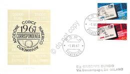 FDC Rodia Repubblica 1967 - Codice Avviamento Postale - Non Viaggiata - Francobolli
