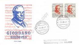 FDC Rodia Repubblica 1967 - Umberto Giordano - Non Viaggiata - Francobolli