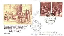 FDC Rodia Repubblica 1967 - Giuramento Di Pontida - Non Viaggiata - Francobolli