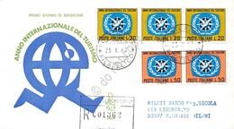 FDC Rodia Repubblica 1967 - Anno Internazionale Del Turismo - Raccom. Viaggiata - Francobolli