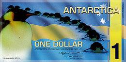 ANTARCTICA 1 Dollar 9 Janvier 2010   POLYMER  UNC Marche De Manchots - Specimen