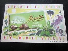 CHOCOLATS MENIER BUVARD Collection Illustré Publicitaire Publicité Alimentaire Chocolat - Cocoa & Chocolat