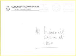 ITALIA - ITALY - ITALIE - 2002 - 00,77 EMA, Red Cancel - Comune Di Falconara M.MA - Viaggiata Da Falconara Per Lugo - Affrancature Meccaniche Rosse (EMA)