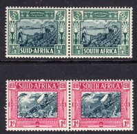 SOUTH AFRICA - 1938 VOORTREKKER HALFPENNY & PAIRS FINE MINT LMM * SG 76-77 - South Africa (...-1961)