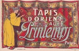 TAPIS D ORIENT  AU PRINTEMPS  PARIS     ILLUSTRE PAR  RENE VINCENT - Pubblicitari