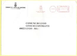 ITALIA - ITALY - ITALIE - 2002 - 00,77 EMA, Red Cancel - Comune Di Agata Sul Santerno - Viaggiata Da Agata Sul Santerno - Affrancature Meccaniche Rosse (EMA)