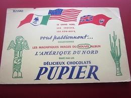 CHOCOLAT CACAO PUPIER- BUVARD Collection Illustré INDIENS COW-BOY GD NORD  Publicitaire Publicité Alimentaire Chocolat - Cocoa & Chocolat