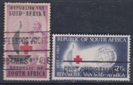 Afrique Du Sud N° 275 / 76 O Centenaire De La Croix-Rouge Internationale Les 2 Valeurs Oblitérations Moyennes Sinon TB - Oblitérés