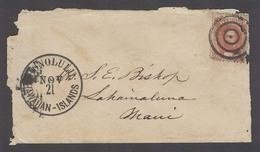 USA - HAWAII. C.1865 (21 Nov). Honolulu - Maui / Lahainalune. Fkd Local Env 2c Ringls + Large Early Cds. Faults But Scar - Ohne Zuordnung