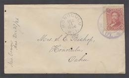 USA - HAWAII. 1886 (Dec). Maui . Oahu / Honolulu (11 Dec). Fkd Local Env 2c Red Cds Violet Cachet. Trinidad But Scarce I - Ohne Zuordnung